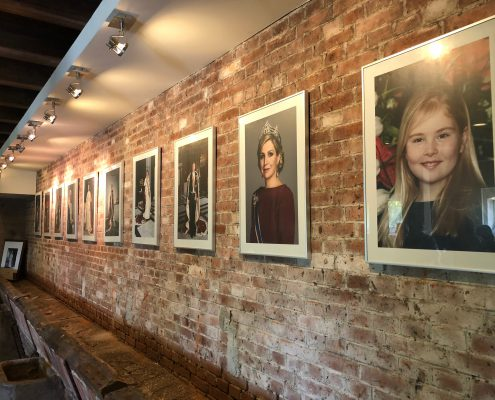 Royal portraits made with display board by Solidus Solutions